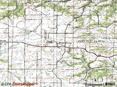 Holy Cross topographic map