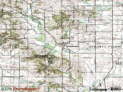 Hopkinton topographic map