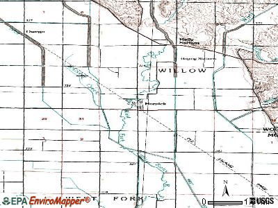 Hornick topographic map