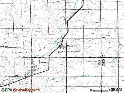Hospers topographic map