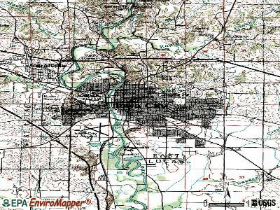 Iowa City topographic map