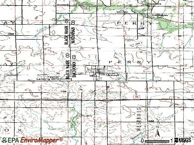 Jesup topographic map