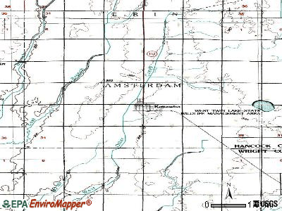Kanawha topographic map