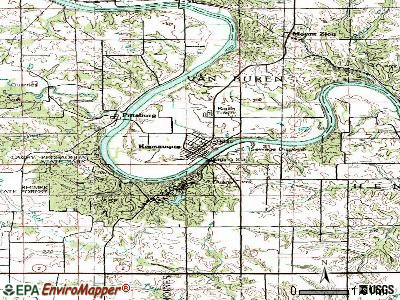 Keosauqua topographic map