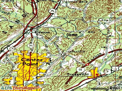 Chalkville topographic map