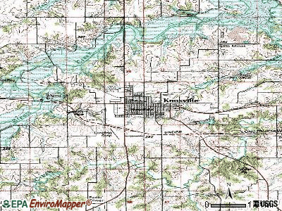 Knoxville topographic map