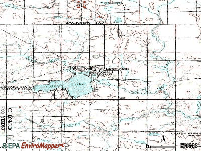 Lake Park topographic map