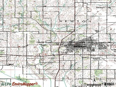 Lambs Grove topographic map