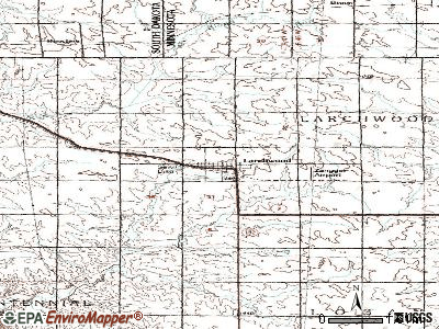 Larchwood topographic map