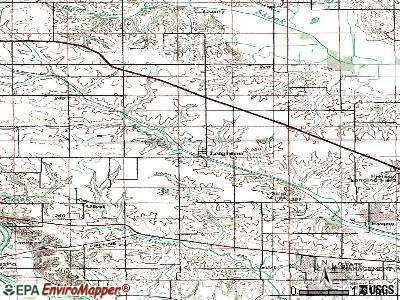 Leighton topographic map