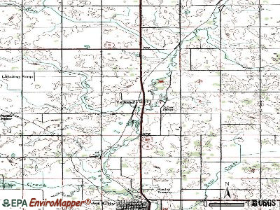 Leland topographic map