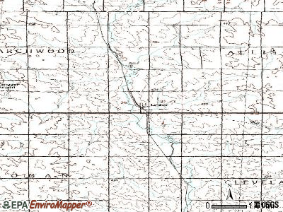 Lester topographic map