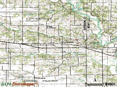 Lockridge topographic map