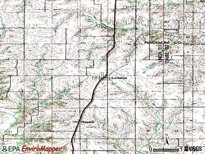 Lorimor topographic map