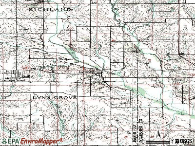 Lynnville topographic map