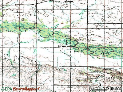 McCausland topographic map