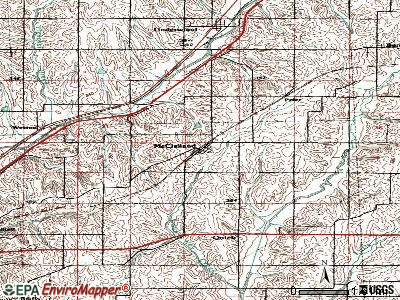 McClelland topographic map