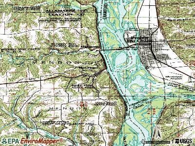 McGregor topographic map