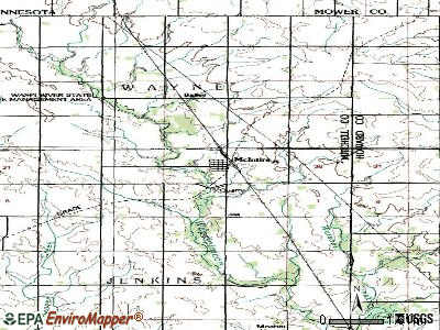 McIntire topographic map