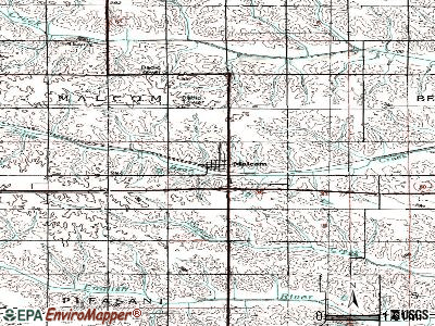 Malcom topographic map