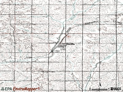 Manilla topographic map