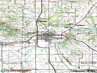 Maquoketa topographic map