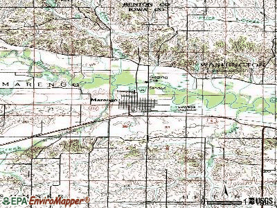 Marengo topographic map
