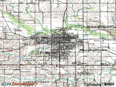 Marshalltown topographic map