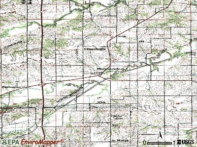 Martensdale topographic map