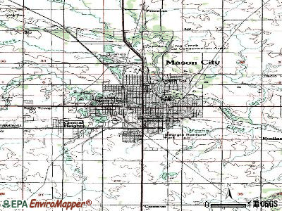 Mason City topographic map