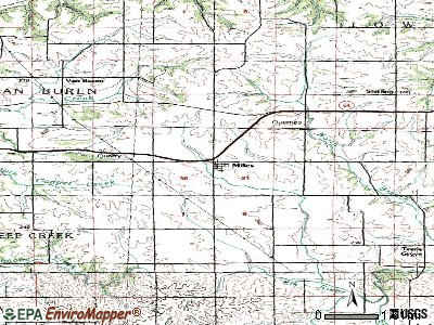 Miles topographic map