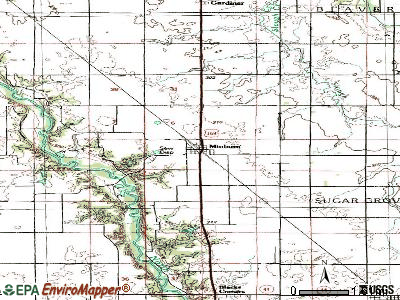 Minburn topographic map
