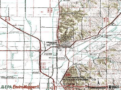 Missouri Valley topographic map