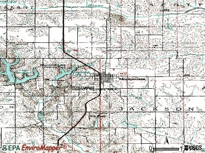 Montezuma topographic map