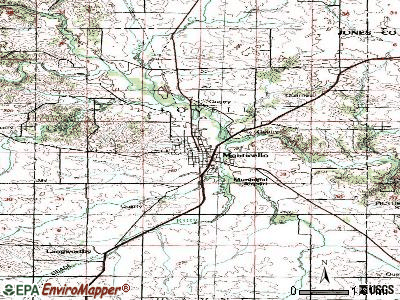 Monticello topographic map
