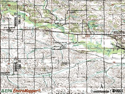Montour topographic map