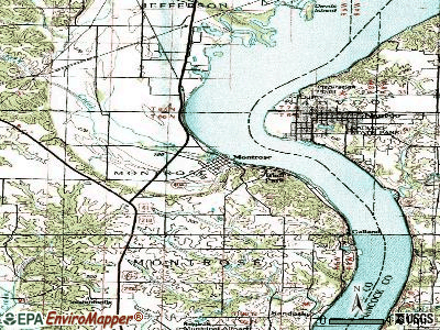 Montrose topographic map