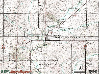 Moville topographic map