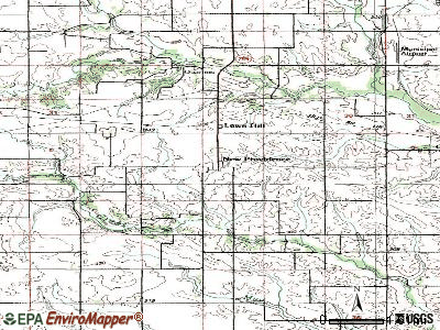 New Providence topographic map
