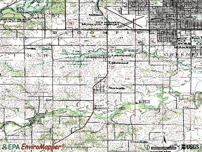 Norwalk topographic map