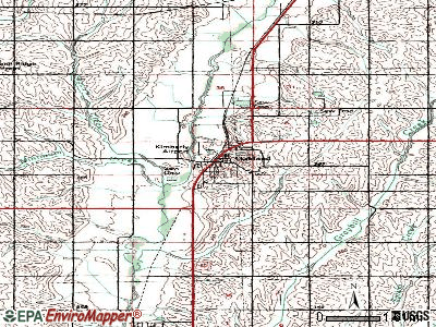 Oakland topographic map