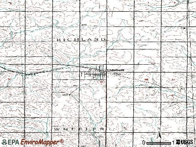 Odebolt topographic map