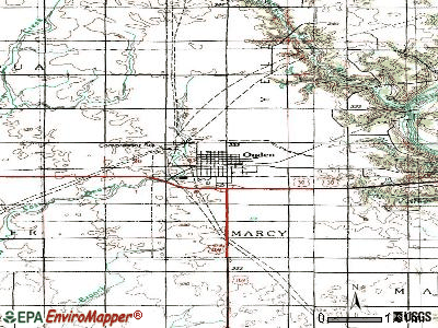 Ogden topographic map