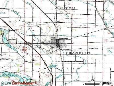 Onawa topographic map