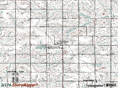 Orange City topographic map