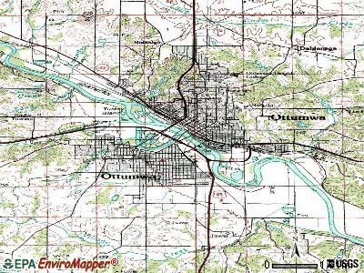Ottumwa topographic map