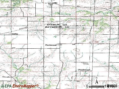 Packwood topographic map