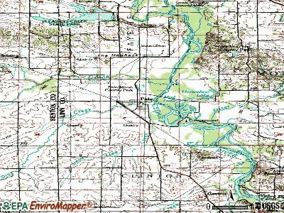 Palo topographic map