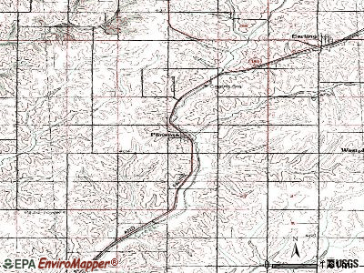 Panama topographic map