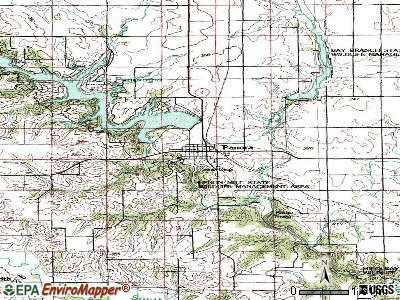 Panora topographic map